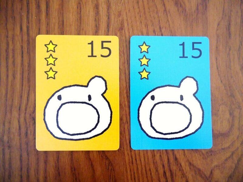 同じ変顔のカードが2枚